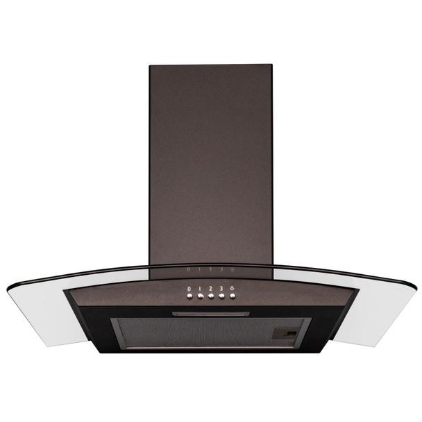 SIA 60cm Black Built Under Double Oven, 4 Burner Gas Hob &Curved Glass Hood Fan