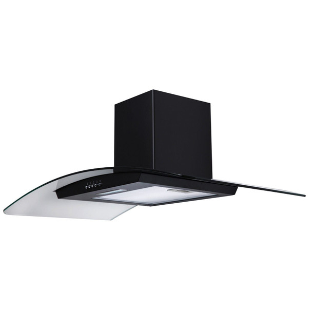 SIA 60cm Double Electric Oven, 90cm 5 Zone Induction Hob And Curved Glass Hood