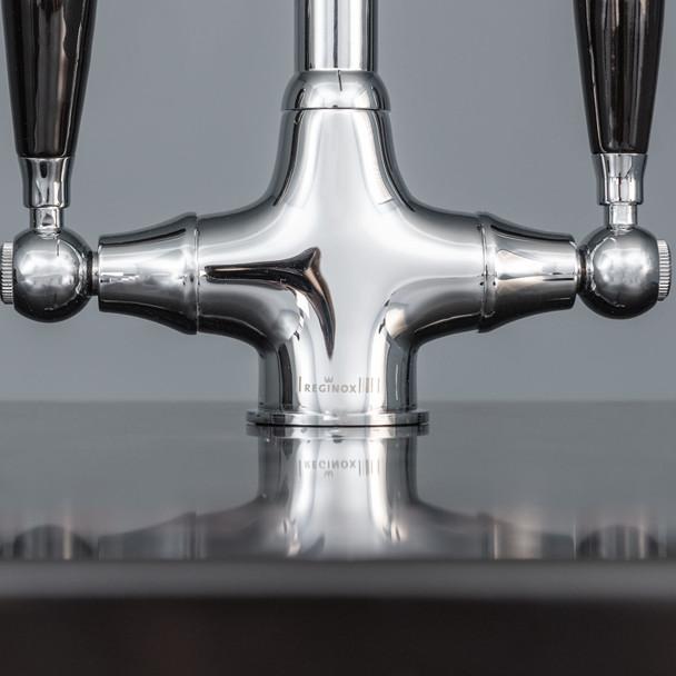 Astracast Sierra 1.0 Bowl Black Kitchen Sink And Reginox Brooklyn Swan Neck Tap