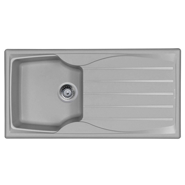 Astracast Sierra 1 Bowl Light Grey Kitchen Sink And Reginox Astoria U-shape Tap