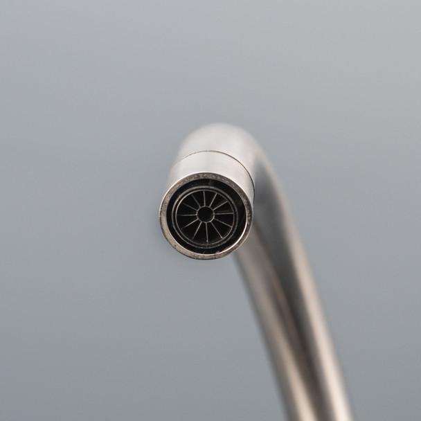 Astracast Sierra 1.5 Bowl Graphite Grey Kitchen Sink & Reginox Brushed Steel Tap