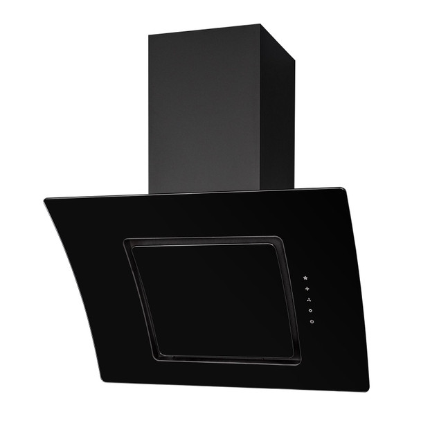 SIA AT61BL 60cm Black Touch Control Angled Glass Cooker Hood Extractor Fan