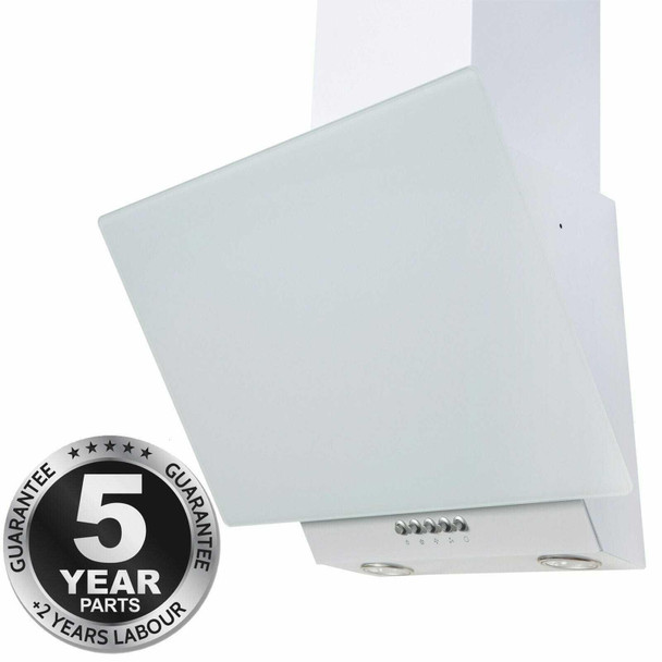 SIA EAG61WH 60cm White Angled Chimney Cooker Hood Kitchen Extractor Fan