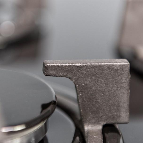 SIA 70cm Black 5 Burner Gas On Glass Hob &Chimney Kitchen Extractor Cooker Hood