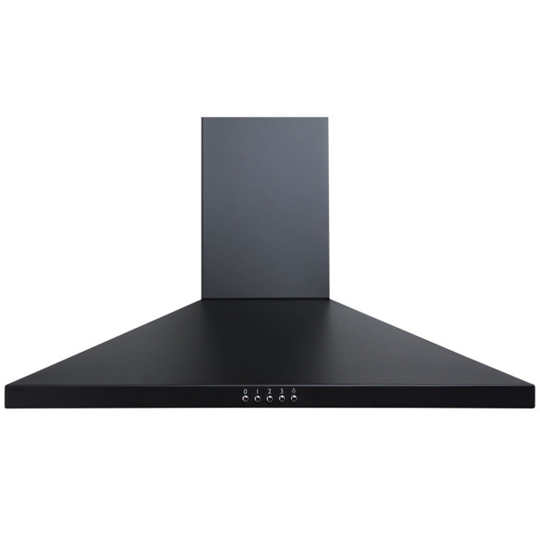 SIA 70cm Black 5 Burner Gas On Glass Hob &Chimney Kitchen Extractor Cooker Hood