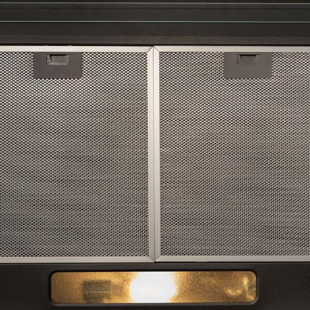 SIA VSR60BL 60cm Black Slim Visor Cooker Hood Kitchen Fan And Carbon Filter
