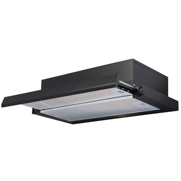 SIA TSH60BL 60cm Black Telescopic Integrated Cooker Hood Kitchen Extractor Fan