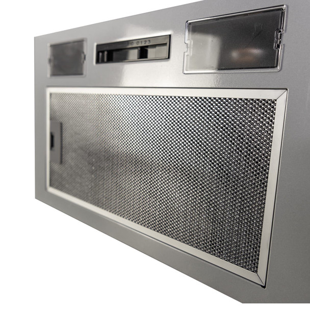 SIA UC52SI 52cm Built In Cupboard Canopy Cooker Hood Extractor Fan + 1m Ducting