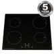 SIA 60cm 4 Zone Touch Control Induction Hob Black ECO 13 Amp Plug In - INDH61BL