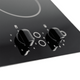 SIA 30cm Black Domino 2 Zone Electric Ceramic Hob And 60cm Integrated Extractor