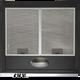 SIA STE50BL 50cm Black Slimline Visor Cooker Hood Kitchen Extractor Fan