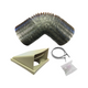 SIA STE50SI 50cm Silver Slimline Visor Cooker Hood Extractor Fan & 1m Ducting