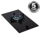 SIA GHG101BL 30cm Black Single Burner Gas on Glass Domino Hob With LPG Kit & FFD