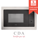 CDA VM231SS Stainless Steel 900W Integrated Combination Microwave Oven And Grill