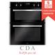 CDA DC741SS 60cm Stainless Steel Built Under Double Electric True Fan Oven