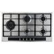 CDA HG9351SS 90cm Stainless Steel 5 Burner Gas Hob With Cast Iron Pan Stands