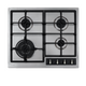 CDA HG6351SS 60cm Stainless Steel 4 Burner Gas Hob With Cast Iron Supports & FFD
