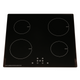SIA 60cm Black Single Oven, 4 Zone Induction Hob & Stainless Steel Curved Hood