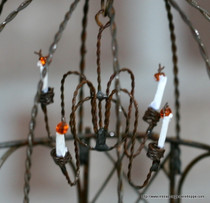 Miniature Wire Chandelier