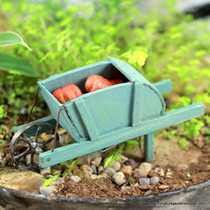 Antique Blue Wheelbarrow