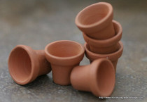 Tiny Clay Pots (6 pcs)