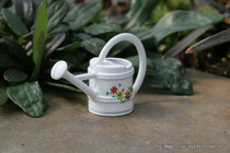 White Floral Watering Can