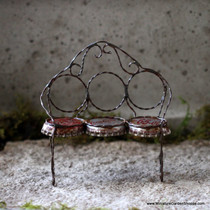 Upcycled Bottle Cap Bench