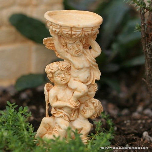 Cherubs with Birdbath (Terracotta)