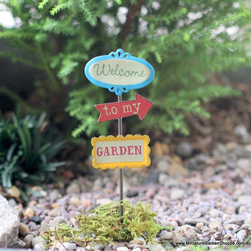"""""""Welcome to my Garden"""" Sign Post"""