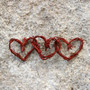 """Red """"Grapevine"""" Hearts"""
