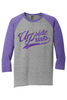 Upside Prints (Purple Ink) - Baseball Tee.