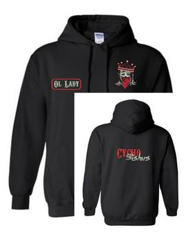 Motorcychos - Women's Gear - Hooded Sweatshirt - Name Tag Design