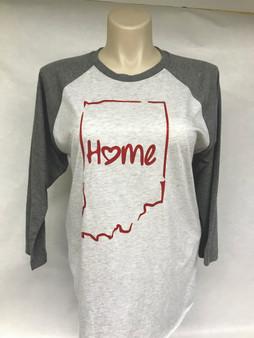 Home State Indiana Baseball Tee