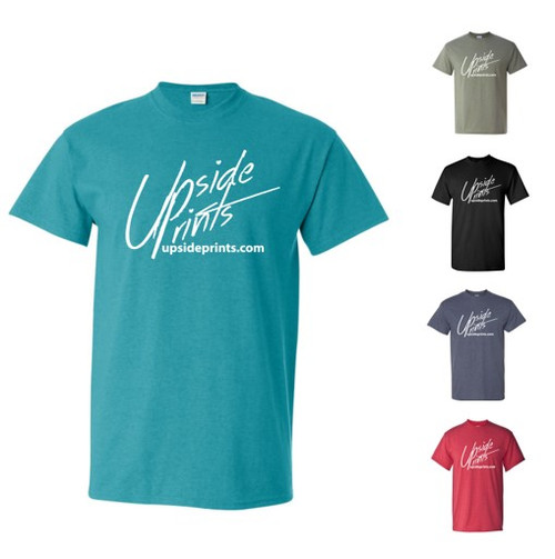 Upside Prints (White Ink) - T-shirts