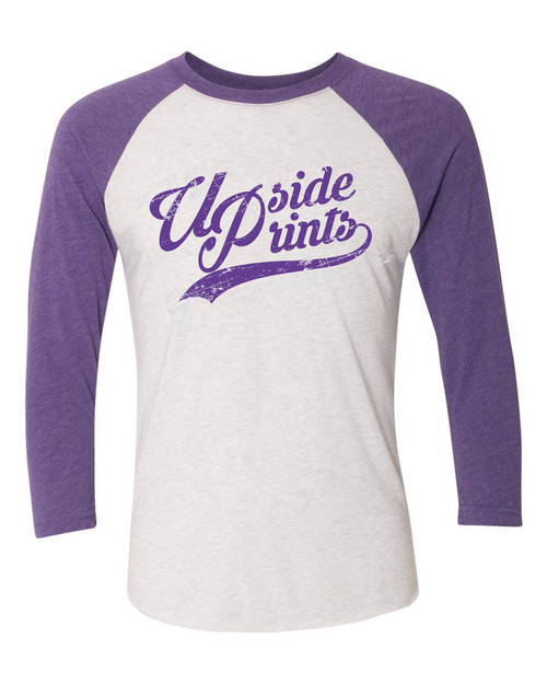 Upside Prints (Purple Ink) - Baseball Tee