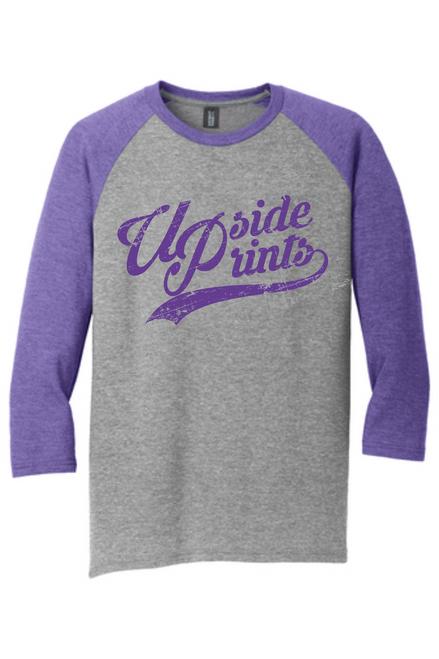 Upside Prints (Purple Ink) - Baseball Tee.