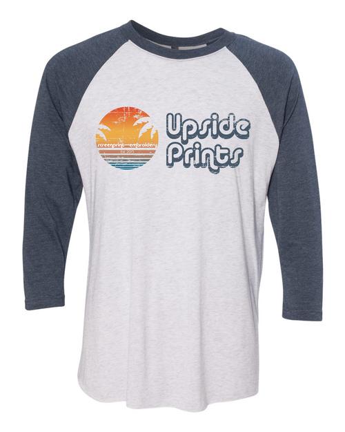 Upside Prints (Sunset) - Baseball Tee