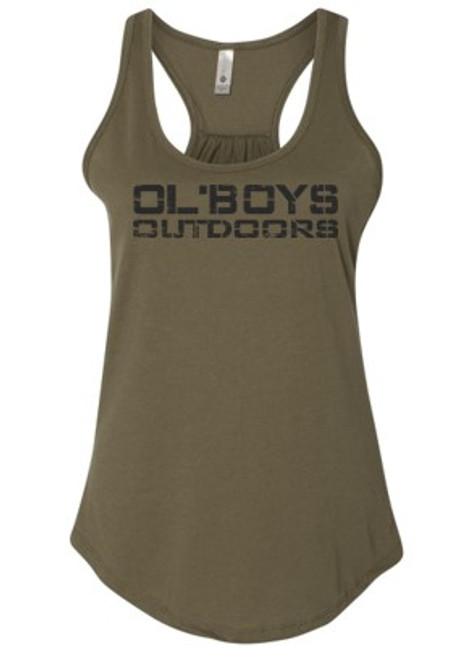 LADIES Ol' Boys Outdoors Vintage 1.0 (Black Ink) - Ladies Tank Top