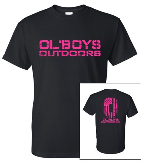 YOUTH Ol' Boys Outdoors Vintage 1.0 (Pink Ink) - Youth T-Shirt