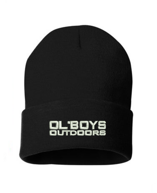 Ol Boys Outdoors 12 Inch Knit Beanie (White thread)
