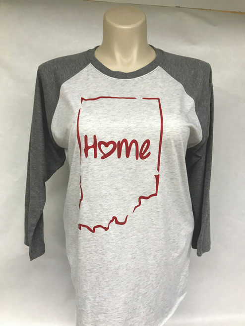 Home State Indiana Baseball Tee