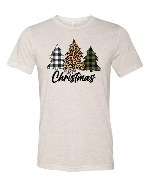 Leopard Print Christmas Tree - T-Shirt