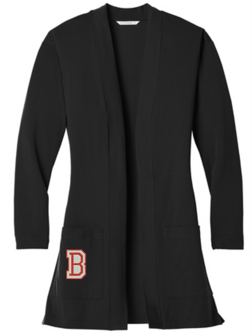 BMS Staff - Ladies Long Pocket Cardigan