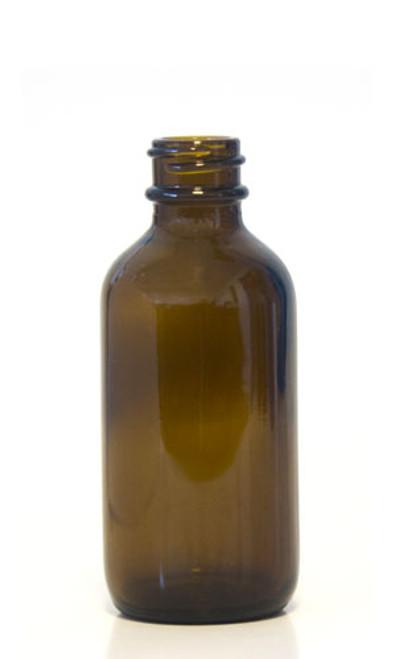 60ML Amber Glass Boston Round - Round Bead