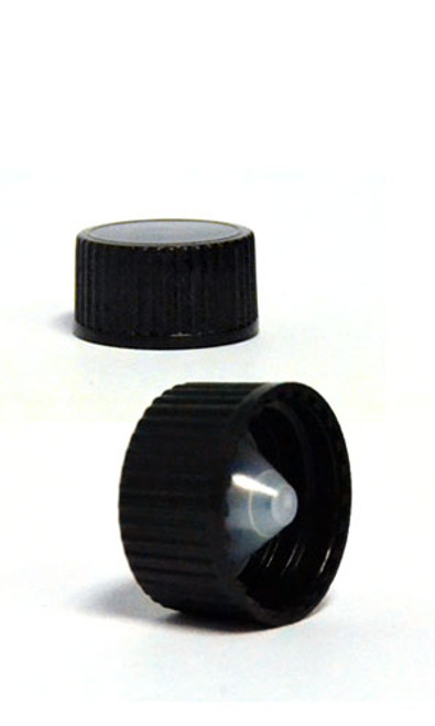 BLACK POLYPROPYLENE CAP-POLYCONE LINER - 22-400 NECK FINISH