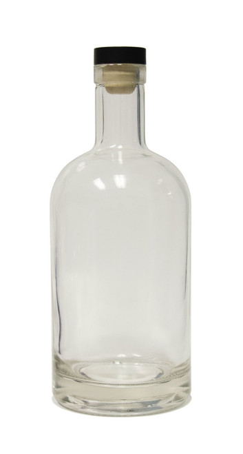 750ml Nordic Glass Bottle - Case of 6 Includes Matching Black T-Cork
