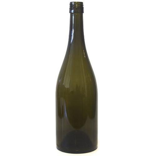 Antique Green Bordeaux Wine Bottle #070 - ST-top