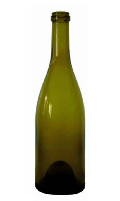 Antique Green Burgundy Wine Bottle #069