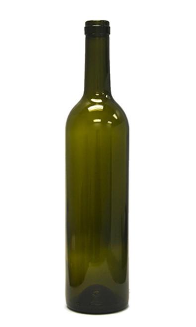 750ml Antique Green Bordeaux Wine Bottle #18 - Case of 12