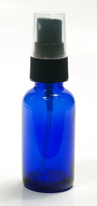 30 ML (1 oz) Blue Boston Round w/ Fine Mist black sprayer